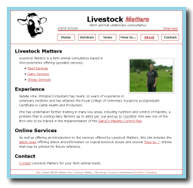 Screen shot of www.livestockmatters.co.uk