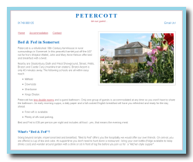 Screen shot of www.petercott.com